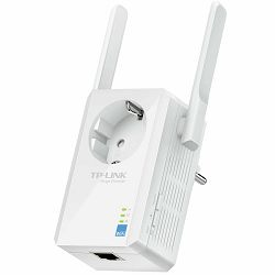 Repeater TP-Link TL-WA860RE, 300Mbps Wireless N Wall Plugged Range Extender with AC Passthrough, QCA(Atheros), 2T2R, 2.4GHz, 802.11n/g/b, Ranger Extender button, Range extender mode, with 2 fixed Ante
