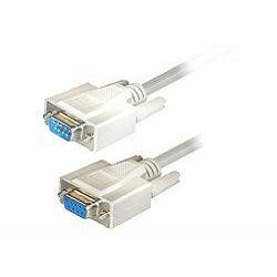 Transmedia Sub D-plug 9 pin to Sub D-jack 9 pin Cable, 1,8m