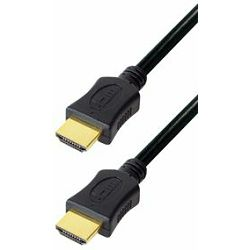 Transmedia High Speed HDMI cable with Ethernet 0,5m gold plugs, 4K