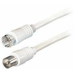 Transmedia TV-SAT Kabel F to IEC 5m, White