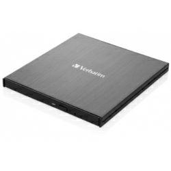 Verbatim CD/DVD Slimline vanjski snimač, M-Disc kompatibilan, USB3.2/USB-C, crni