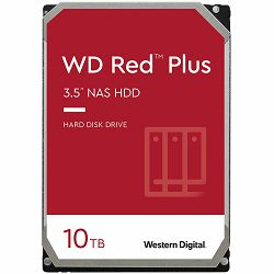 HDD NAS WD Red Plus (3.5, 10TB, 256MB, 7200 RPM, SATA 6 Gb/s)
