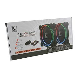 LC-Power RGB kit 2x120mm ventilator, LED traka