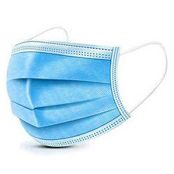 Maska za lice zaštitna jednokratna (medicinska) 3-slojna pk50 plava