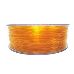 Filament for 3D, PET-G, 1.75 mm, 1 kg, orange tran