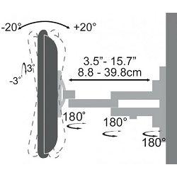 "SBOX nagibni nosač s duplom rukom 23""-55"", do 30kg"